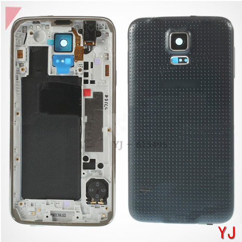 Original New Back Cover Housing + Mid Middle Plate Samsung Galaxy S5 G900 G900F Logo - YJ phone Accessories Shop store
