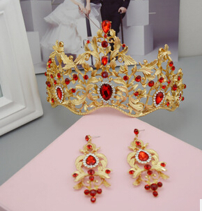 HG264 bridal accessories retro elegant alloy electroplating diamond glass crown clothing accessories wholesale(China (Mainland))