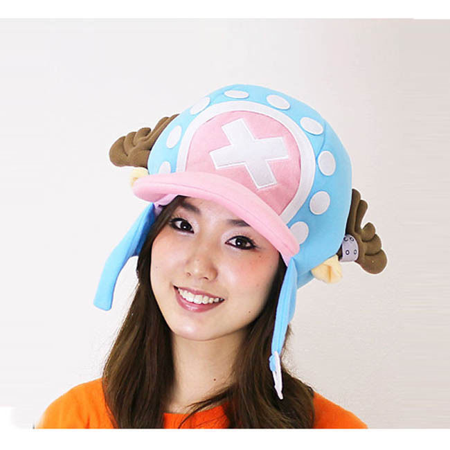 One piece Anime Chopper(2 years later) Cosplay Soft Furry Plush Cap Hat Blue - Lisa Textiles Co., Ltd store