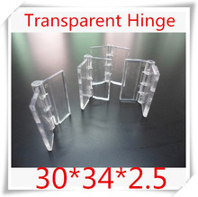100PCS/LOT Acrylic Hinge , perspex Transparent Hinge , Plexiglass Hinge , organic glass hinge 30x34mm ,furniture accessory(China (Mainland))