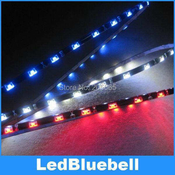 Pure white led strip light side emitting,12V 15leds 30cm SMD335 waterproof flexible white sideview car LED light(China (Mainland))