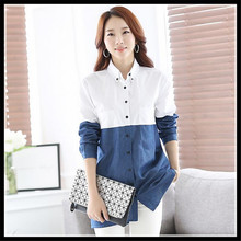 blouse shirt 2015 New fashion White Shirt Women work wear Long Sleeve women tops Slim Women's Blouses Shirts casual blusas blusa