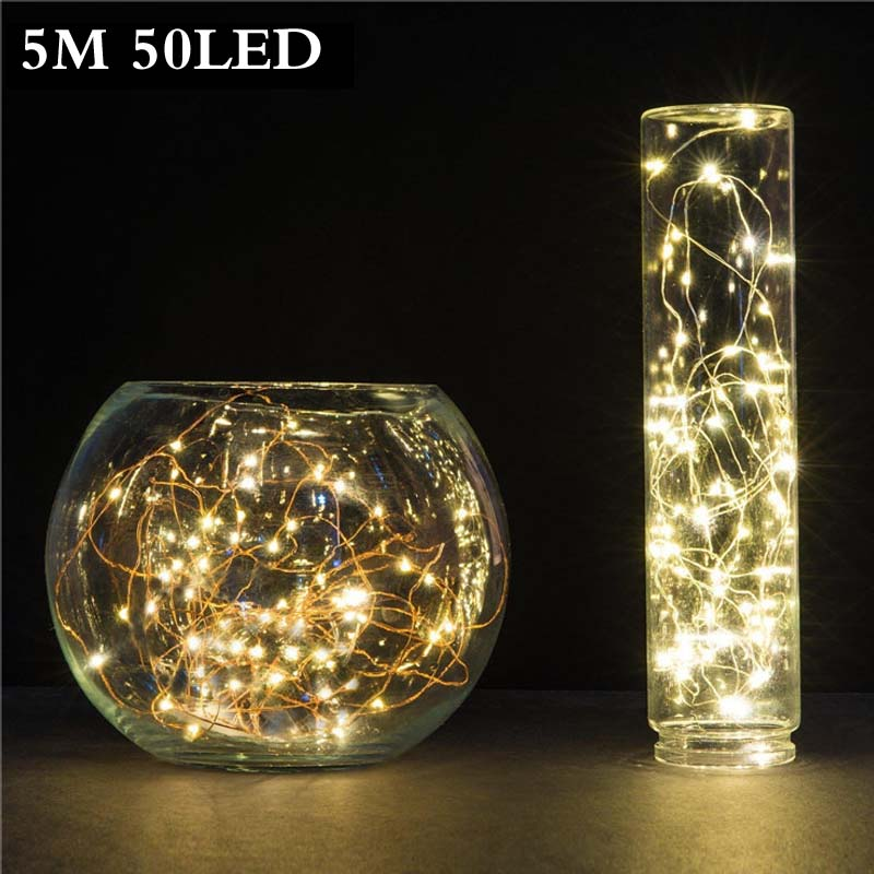 Modern Creative Battery Operated LED String Lights for Xmas Garland Party Decoration 5M LED Christmas Dazzling Flash Night Lamps(China (Mainland))