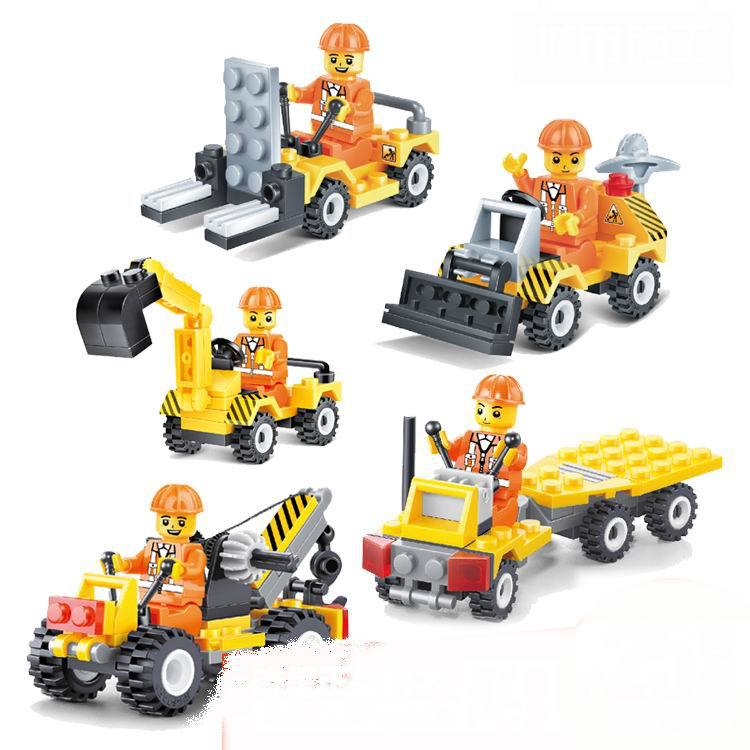 Building Blocks Toy City Construction Team Bricks DIY Assembling Classic Toys Early Educational Learning Toys Free Shipping(China (Mainland))