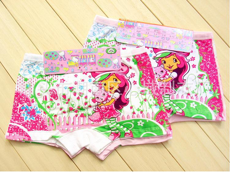Printed little baby girls underwear wholesale children's underwear boxer bow Roupa interior Ropa interior(China (Mainland))