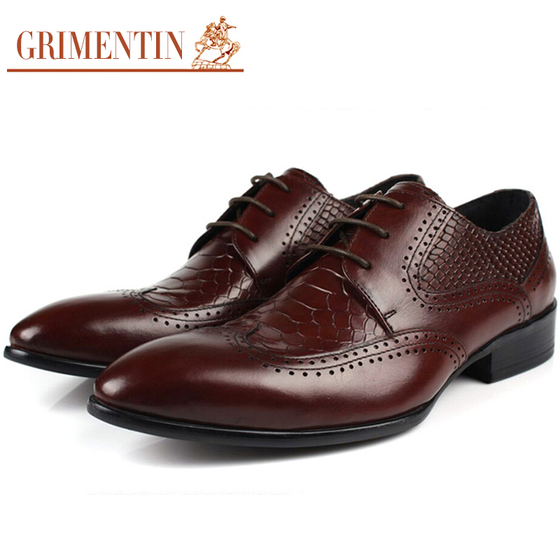 2015 Btitish crocodile fashion oxford mens leather shoes black brown basic flats for man casual business office size:6-10 #716(China (Mainland))