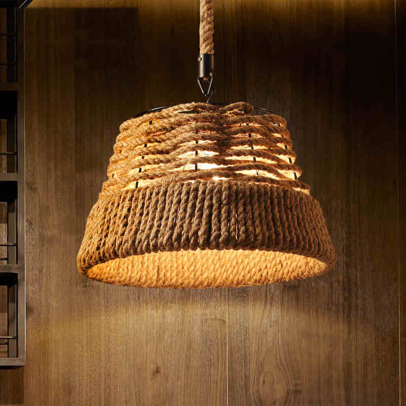 retro rope vintage pendant lights industrial pulley lighting Bar Kitchen iron loft pulley light lampara de techo Light Fixtures(China (Mainland))
