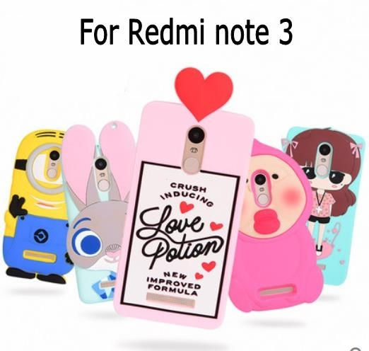 3D ZOOTOPIA Bunny Minion Love Potion Chill Pills boy tear pink soft silicone case cover Xiaomi Redmi Note 3 Hongmi Note 3