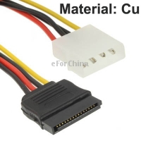 4 Pin IDE to Serial ATA SATA Power Adapter (15cm), Material: Cu(China (Mainland))