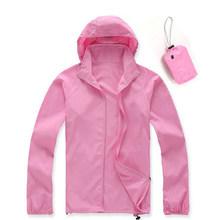 Мужские и женские быстросохнущие кожаные куртки, водонепроницаемые пальто с защитой от ультрафиолета, Спортивная брендовая одежда для отд...(China)