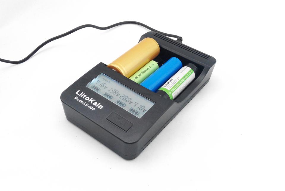 2015 New Liitokala lii-400 LCD Charger 18650 3.7V lithium battery NiMH AA / AAA1.2V Battery + 12V 2A adapter