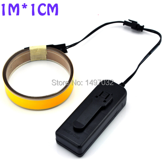 Factory supply various Colors stock 1m*10mm Portable Flexible Neon Light decoration EL tape with 3V inverter for decoration(China (Mainland))