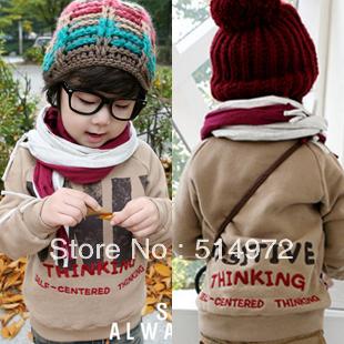 Best selling!! fashion boys Fleeces Hoodie kids pure cotton Sweatshirts children clothing free shipping