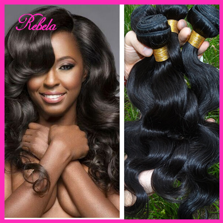Mocha Hair Products Brazilian Body Wave 3pc 7A Mink Virgin Grace Wet Wavy - Rebela hair products Co.,Ltd store