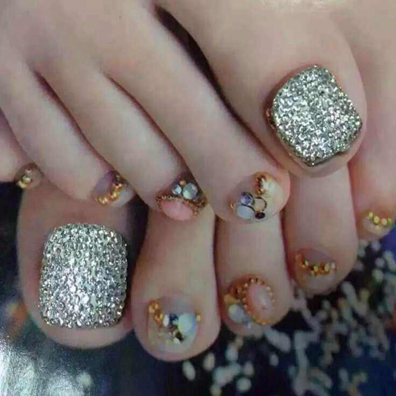Gallery for gt toe nail art with rhinestones - Toe Nail Art Designs With Rhinestones: Toe Nail Designs Pccala