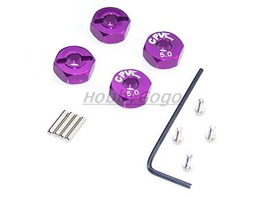 Aluminum Wheel Adaptors with Lock Screws 5mm for 1/10 RC Cars Free Shipping(China (Mainland))