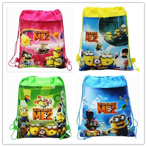 Оптовая продажа миньоны гадкий я TMNT шнурок сумки школьные сумки для детей рюкзаки Mochila детей рождественские подарки