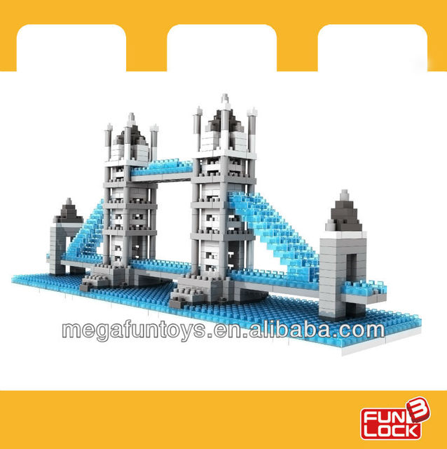 THE SMALLEST BUILDING BLOCK IN THE WORLD      London Bridge model building block sets