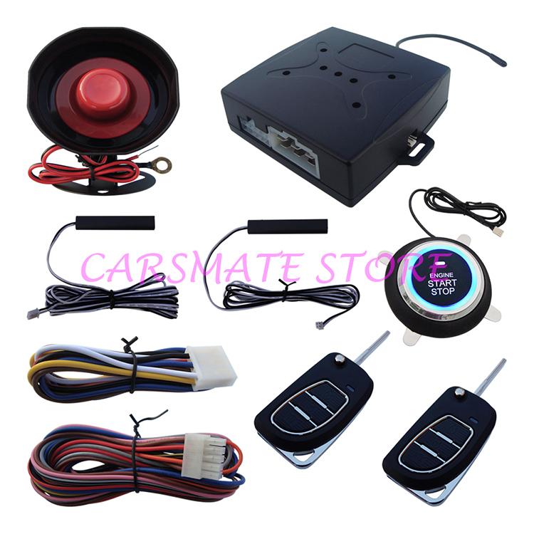 New Flip Key PKE Passive Keyless Entry Car Alarm System With Push Button Start Remote Engine Start Auto Central Lock Or Unlock(China (Mainland))