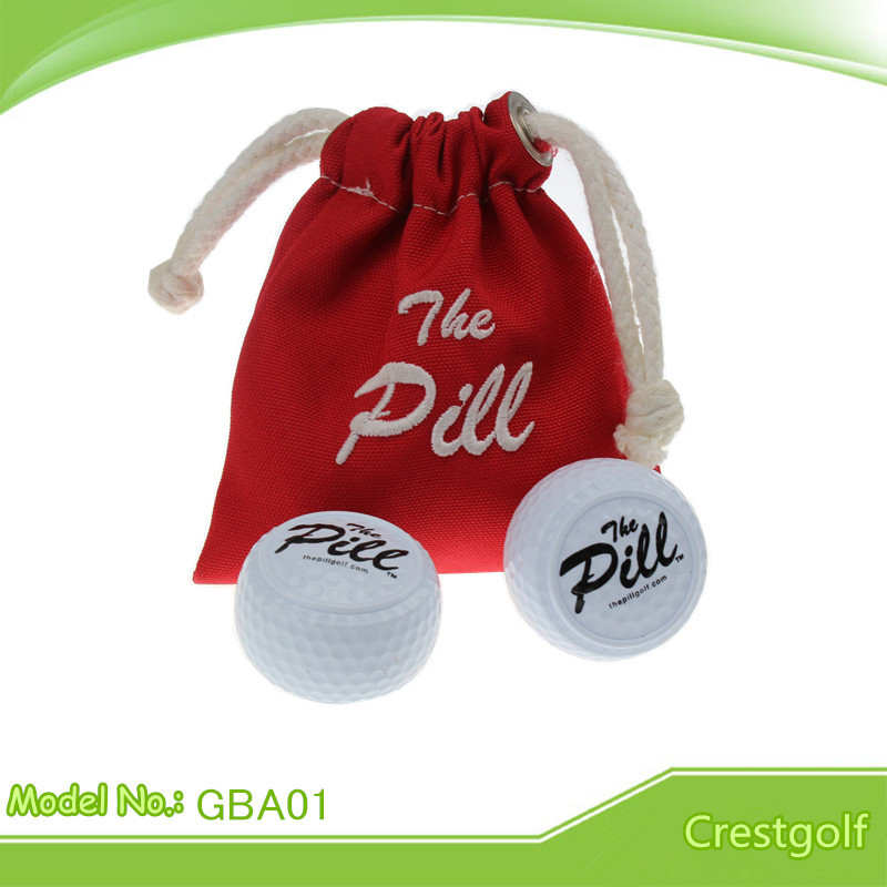 Free Shipping 2pcs/lot New Design Two Layer Training Driving Range Golf Balls with Red bags(China (Mainland))