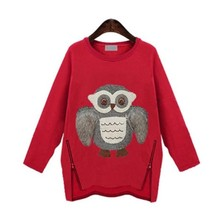 Winter New Moletom Feminino Fashion 2015 Women Hoodie Casual Printing Owls Plus Thick Velvet Long-Sleeved Sweatshirts Tracksuits(China (Mainland))