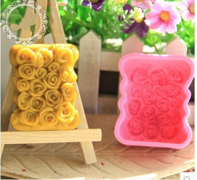 Roses Silicone Cake Chocolate Soap Pudding Jelly Candy Ice Cookie Biscuit Mold Mould Pan Bakeware xj174 - duanduan yu's store