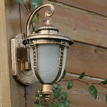 New Outdoor wall lamp corridor balcony decoration lighting waterproof garden light lamp outdoor 220v 17.5*23*32Cm(China (Mainland))