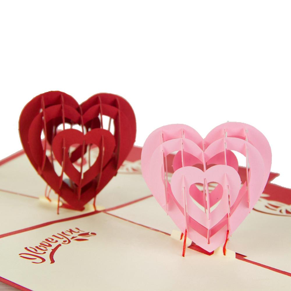 Объёмная открытка сердце 26