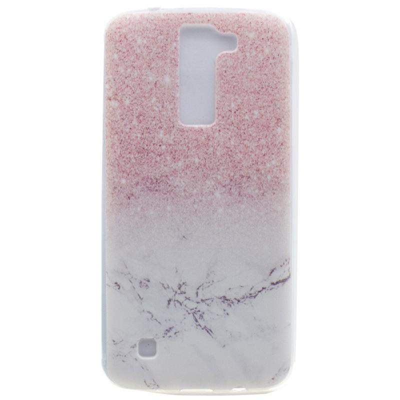 capa coque funda LG K 8 TPU Bag Patterned TPU Cover Soft Case LG K8 Phone Cover Glitter Marble Pattern
