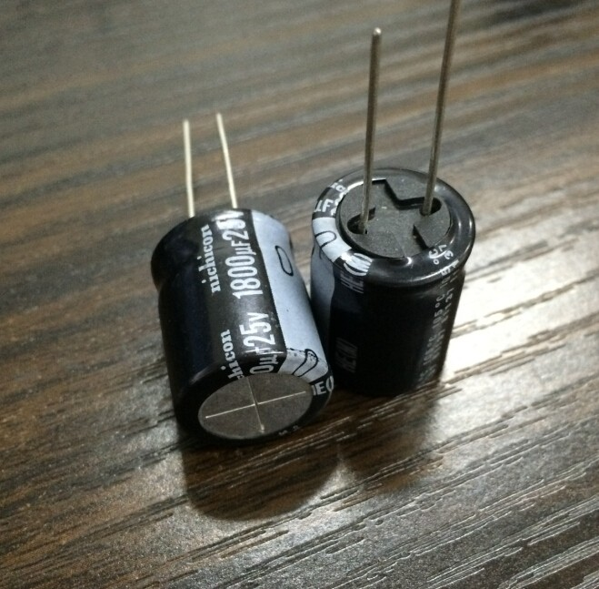 5pcs 1800uf 25v Nichicon He 16x20mm 25v1800uf Super Low