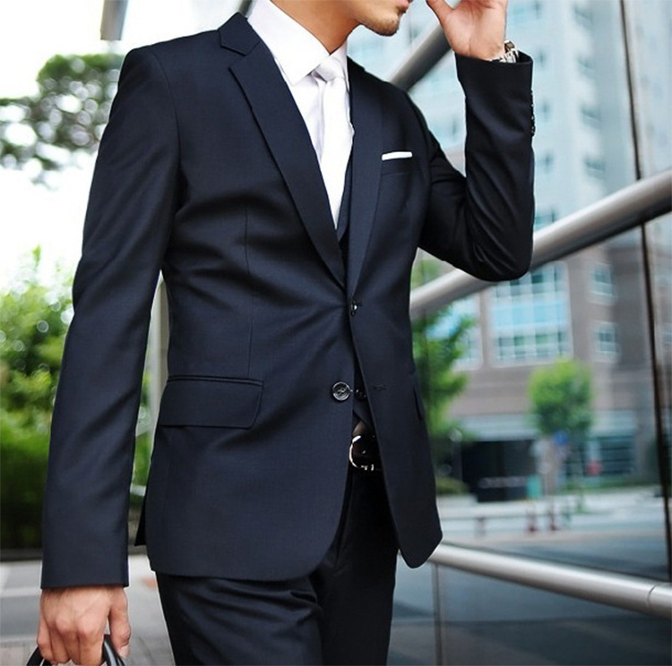 72-Free Shipping New 2015 man suit classic Fashion grooms man suits! Men's Blazer Business Slim Clothing Suit And Pants