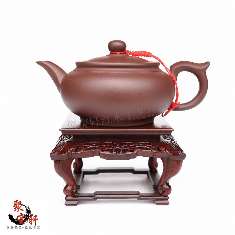 Red mahogany base acid branch wood carving handicraft furnishing articles vase flowerpot household act the role ofing is tasted(China (Mainland))