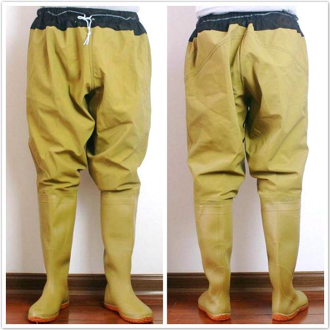 водонепроницаемые штаны с сапогами для рыбалки