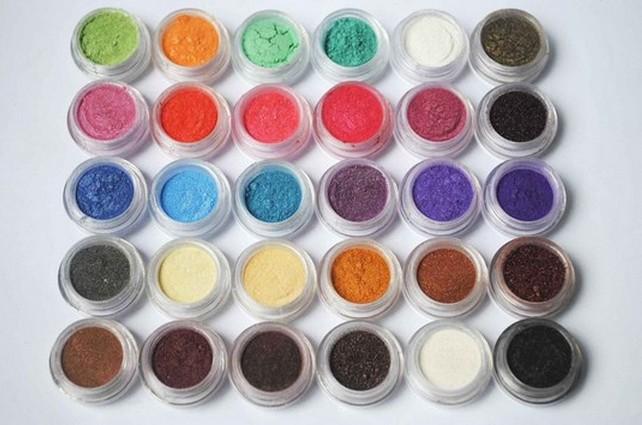 Free Shipping 30 Colors Eye Shadow Powder Pigment Colorful Mineral Eyeshadow Makeup #01(China (Mainland))