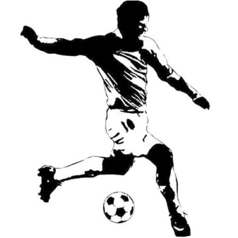 RoomMates Soccer Player Peel & Stick Giant Wall Decal Football StarsPVC Vinyl Wall Sticker Size 84x110cm(China (Mainland))