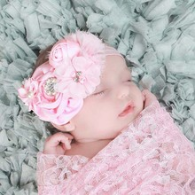 Baby Headband Newborn Toddler Hair Bows Princess Girl Flower Headband Photo Prop Infant Hairbands Retail HB140