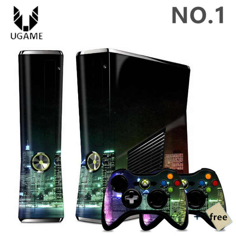 Fashion City Night City Lights Landscape Console + Sticker Skin Decal For Microsoft Xbox 360 + 2 Controller Skins Protect(China (Mainland))