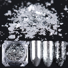 Buy 1 Box 0.2g Silver Flakes Bling Nail Sequins Mirror Nail Glitter Powder Paillette DIY Nail Art Decoration Glitters for $1.10 in AliExpress store
