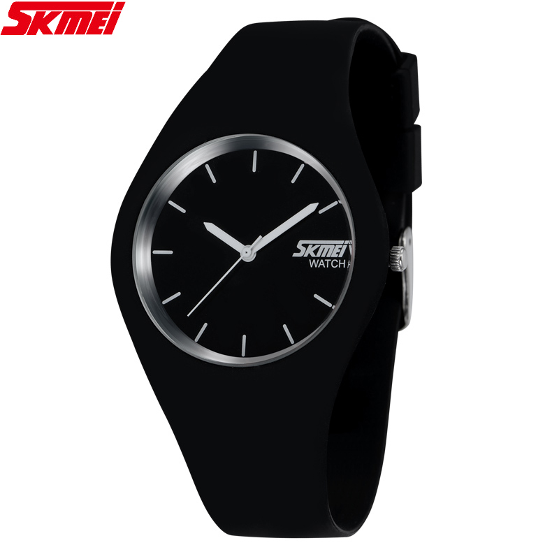 SKMEI Watch Women Fashion Brand Colorful Silicone Band Men Sport 30M Waterproof Quartz Watches Relogio Feminino Masculino 011(China (Mainland))