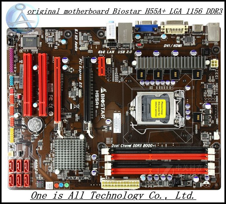 Free shipping original motherboard for Biostar H55A+ LGA 1156 DDR3 RAM 16G Boards H55 Desktop Motherboard(China (Mainland))