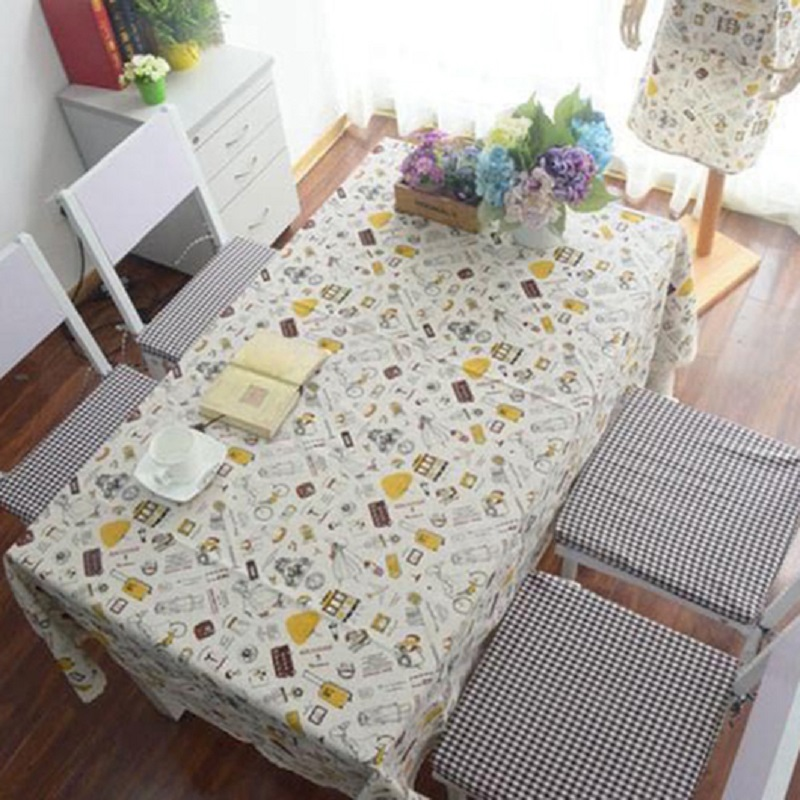 European Travelling Tools Vintage Table Cover Lace Cotton Linen Tablecloth Party Table Decor(China (Mainland))