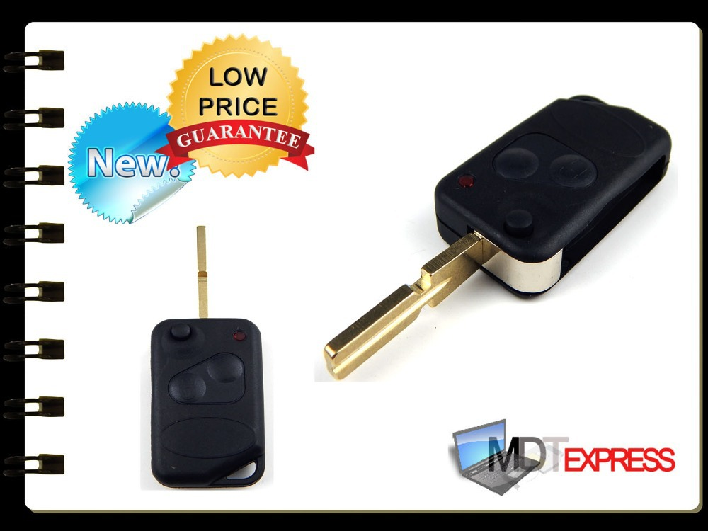 New! 2 Button Flip key FOB case shell range P38 remote Blade for Land Range Rover(China (Mainland))