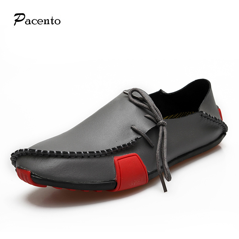 2016 PACENTO Mens Shoes Casual Genuine Leather Slip on Men Loafers Moccasins Flats Male Shoes Men Shoe Zapatillas Calzado Hombre(China (Mainland))