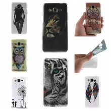 For Samsung Galaxy Core Prime G360 G360H Case Owl tiger Lion sexy lady Painting Ultra thin TPU IMD Silicone Mobile Phone Covers