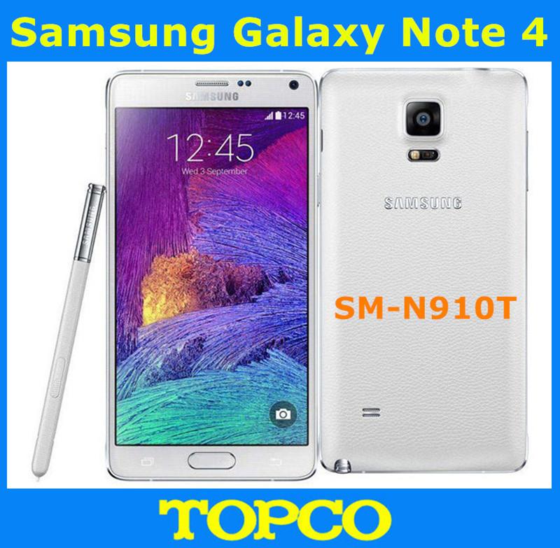 "Samsung Galaxy Note 4 N910T N910V N910P Original Unlocked Android Mobile Phone Quad-core 3GB RAM 3G&4G GSM 5.7"" 16MP 32GB WIFI(China (Mainland))"