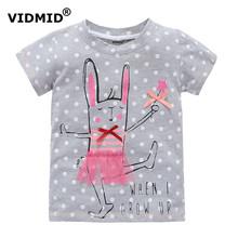 VIDMID 2-10 лет девочка футболка большой Девушки тройники рубашки дети блузка большая распродажа супер качество 100% хлопок лета малышей одежда(China (Mainland))