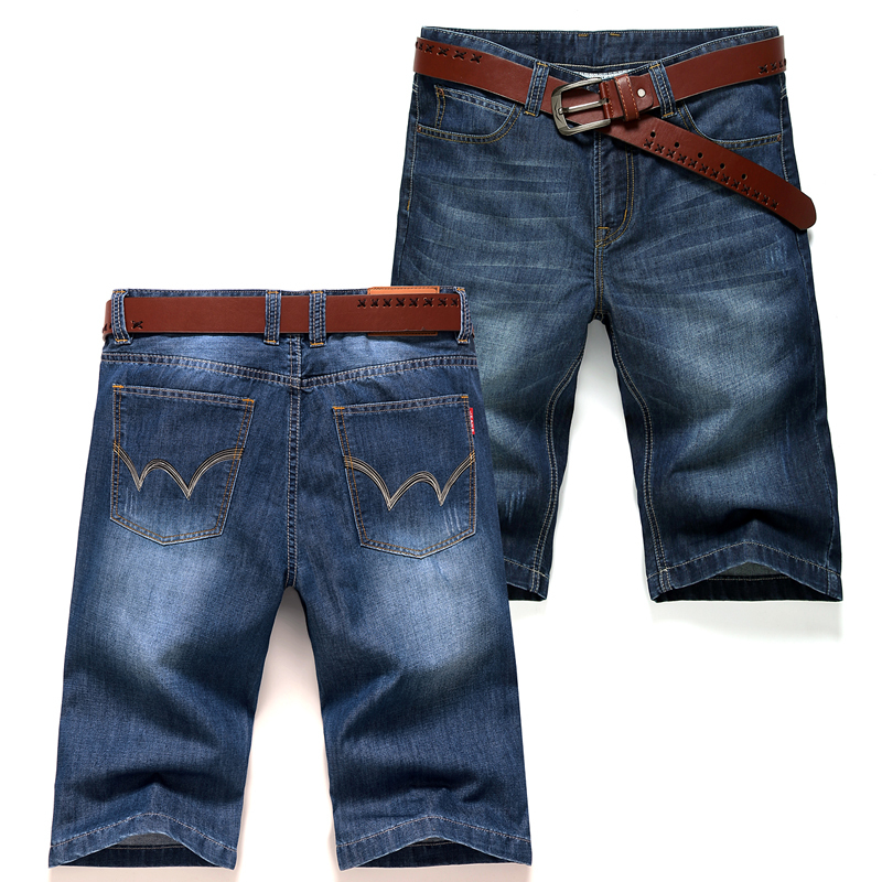 2015 Newest Design Pants Mens Famous Brand Denim Pants Cool Simple Deep Blue Jeans Trousers Summer Style Jeans Boy Clothing 8119(China (Mainland))
