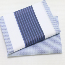 100*160CM 2pcs/lot 100% cotton twill white/blue modern style line stripe DIY for bedding clothes quilting handwork telas cloth(China (Mainland))