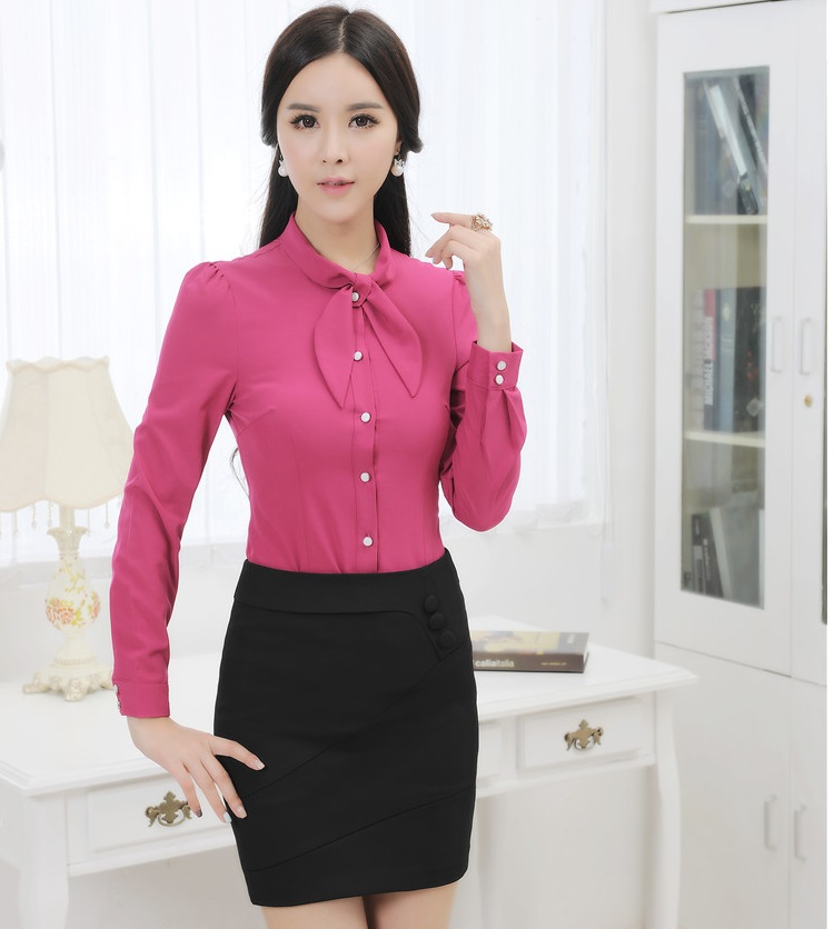 New Elegant Business Women Suits With Blouse And Skirt