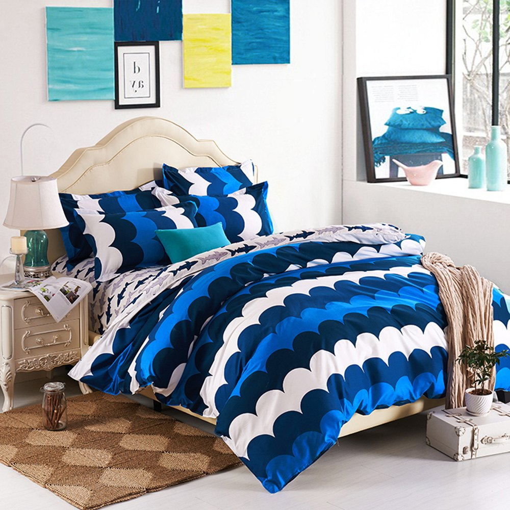 2016 New Arrival Baltic Sea 4 Piece Bedding Set Bed Sheet Bed Cover Pillow Cover Soft and Bed Coverlet Set,Comforter Cover Set(China (Mainland))
